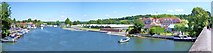 SU7682 : Henley-on-Thames view downstream by Len Williams