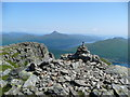 NN2706 : Cairn at the east end of the Beinn Narnain summit by Gordon Brown