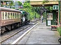 SU5832 : Platform 2, Alresford Station by David Dixon