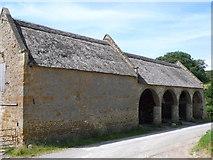 SY4193 : Stone Barn at Silverbridge Farm by Nigel Mykura