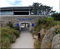 SM7525 : Entrance to the National Park Visitor Centre in St David's by Jaggery
