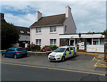 SM7525 : Police Station and police car, St David's by Jaggery