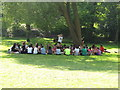 SP5105 : Student visitors in Christ Church meadow by David Hawgood