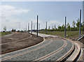 SK5433 : Approach to the Park and Ride tram terminus by Alan Murray-Rust