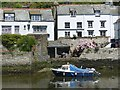 SX2050 : Polperro: boat moored at the habourside by Robin Drayton