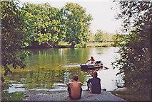 SU8083 : River Thames at Medmenham, 2003 by Ben Brooksbank
