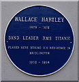 TA1866 : Blue plaque for Wallace Hartley by Ian S
