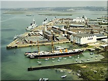 SU6200 : Portsmouth Harbour, The Naval Dockyards and HMS Warrior by David Dixon
