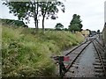 ST0441 : Buffers and sidings, Washford Station by Christine Johnstone
