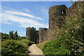SH7877 : Conwy Castle walls by Graham Hogg
