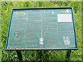 SO0451 : Information Board, Builth Castle (mound),  Builth Wells, Powys by Christine Matthews