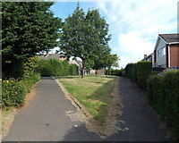 ST3091 : Sharp end of a grass triangle in Pilton Vale, Newport by Jaggery
