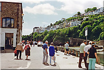 SX2553 : East Looe: Fore Street towards Harbour, 1996 by Ben Brooksbank