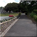 SN3011 : Entrance path to St Martin's Church, Laugharne by Jaggery