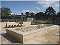 NT2476 : Edinburgh Architecture : New Formal Courtyard Garden At St Columba's Hospice, Boswall Road by Richard West