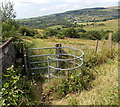 ST0189 : Kissing gate across a public footpath in Trebanog by Jaggery