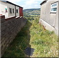 ST0189 : Grassy track to a kissing gate in Trebanog by Jaggery
