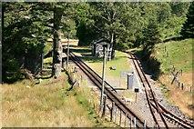 SH6742 : Dduallt station by Graham Hogg