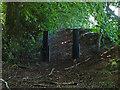 SU9445 : Bollards, Roker's Lane by Alan Hunt