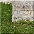 SK7963 : Bench mark, St Mary's Church, Carlton-on-Trent by Alan Murray-Rust