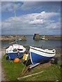 NU2519 : Coastal Northumberland : Small Craft At Craster by Richard West