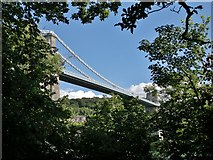 SH5571 : Menai Suspension Bridge by Chris Morgan