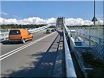 SH5571 : Congestion on Menai Suspension Bridge by Chris Morgan