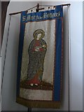 TQ2678 : Saint Mary The Boltons: banner by Basher Eyre