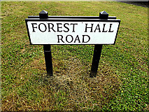 TL5124 : Forest Hall Road sign by Adrian Cable