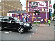 J3274 : The Shankill Protestant Boys Flute Band Mural by Eric Jones