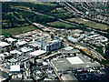 TQ1677 : Sky Centre, Isleworth from the air by Thomas Nugent