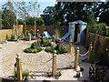 TF6928 : Show garden at Sandringham Flower Show by Richard Humphrey