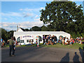TL4903 : North Weald station: beer tent by Stephen Craven