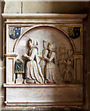 SJ3454 : All Saints Church, Gresford - monument to Katherine Trevor by Mike Searle
