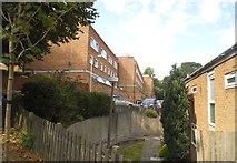 TQ2472 : Flats on Peterstow Close, Wimbledon by David Howard