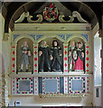 SM9620 : Howard family monument: Rudbaxton Parish Church by Dylan Moore
