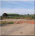 TM0090 : Nissen hut in cattle pasture by Evelyn Simak