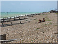 TQ1301 : Beach, West Worthing, Sussex by Christine Matthews