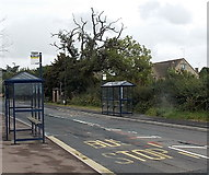 SP2031 : Recently installed bus stops and shelters in Moreton-in-Marsh by Jaggery