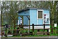 SY0785 : Chicken coop, Otterton Mill by nick macneill