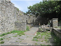 SS8872 : Dunraven ruins by Debbie J