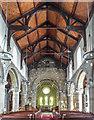 SE7871 : Aisle and Roof, St Michael's Church, Market Place, Malton, Yorkshire by Christine Matthews