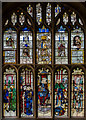 SP1501 : Stained glass window, s.X, St Mary's church, Fairford by Julian P Guffogg