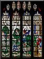 SP1501 : Stained glass window, n.V, St Mary's church, Fairford by Julian P Guffogg