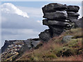 SK1188 : Kinder Scout (rock outcrop) by Stephen Burton