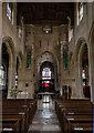 SP1501 : Interior, St Mary's church, Fairford by Julian P Guffogg