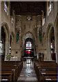 SP1501 : Interior, St Mary's church, Fairford by Julian P Guffogg