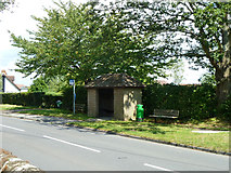 TQ8115 : Westfield Church bus stop by Robin Webster