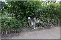 SO8845 : Former toilet, RAF Defford by Philip Halling