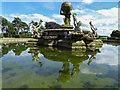 SE7169 : Fountain in Garden, Castle Howard, Yorkshire by Christine Matthews